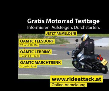 "Kawasaki bei den""Gratis Motorrad Testtagen"""