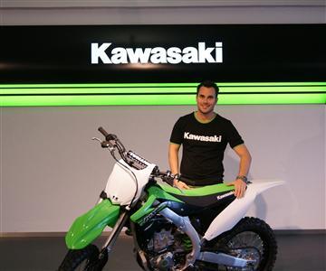 Julien Bill auf Kawasaki
