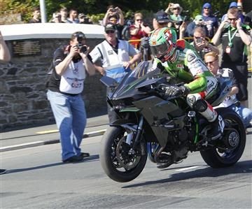 Video: eine Runde mitder Ninja H2R aufder Isle of Man