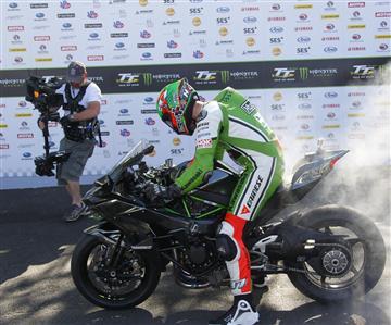 La Ninja H2R pulvérisele record de vitesse auTourist Trophy !