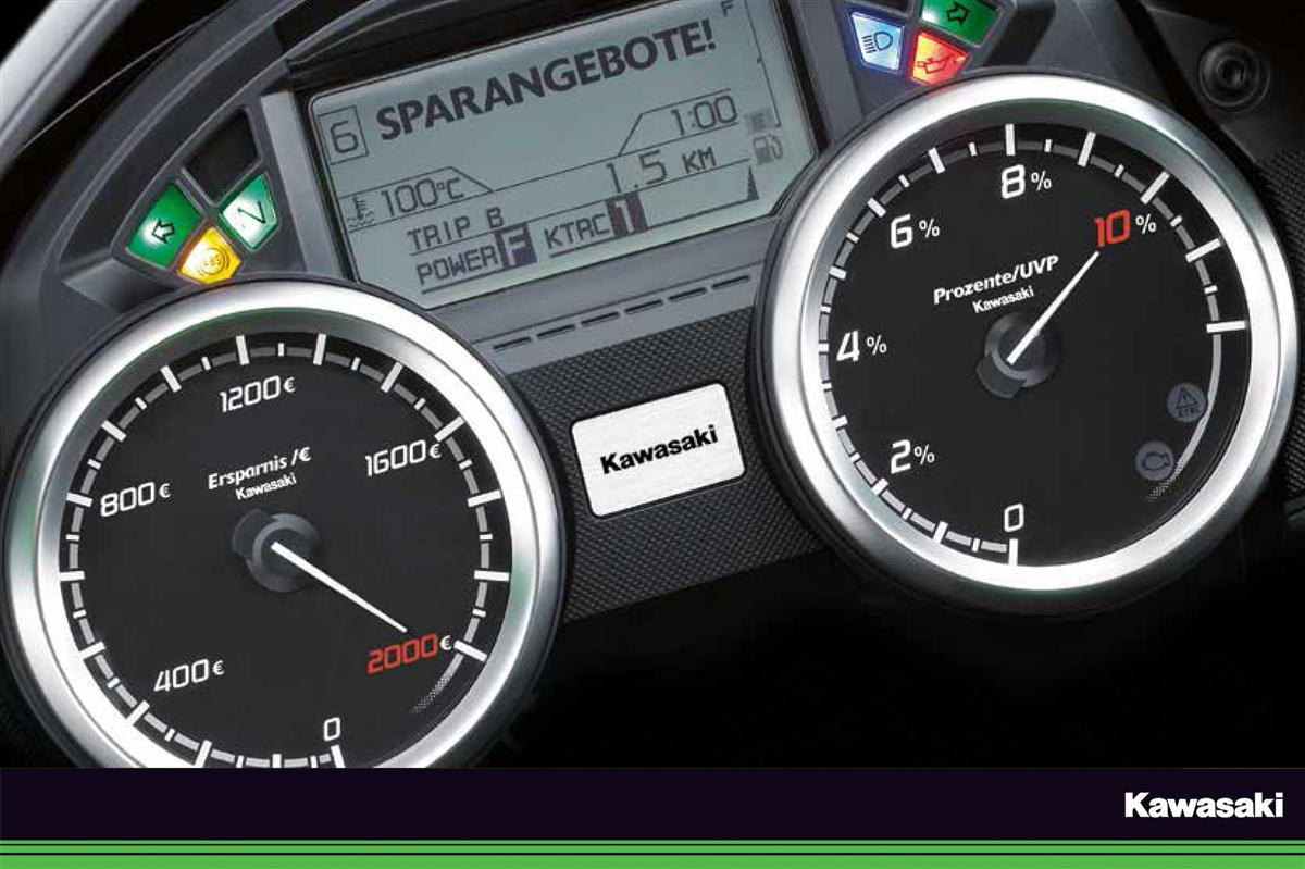 10 Prozent auf ausgesuchte Kawasaki-Modelle