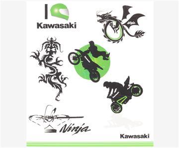 kawasaki kids tattoo set. Black Bedroom Furniture Sets. Home Design Ideas