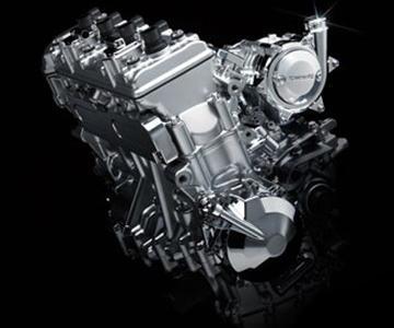 Kawasaki onthult een Supercharged motorblok
