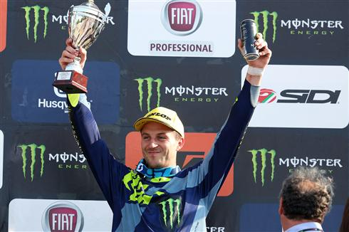 Clement Desalle on the podium in Italy