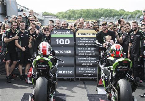 Historic 100 WorldSBK Race Wins For Kawasaki