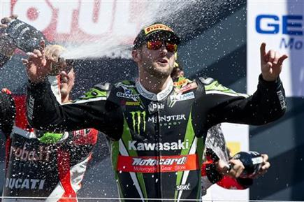 Sykes Wins As Rea Retires From Second Laguna Race