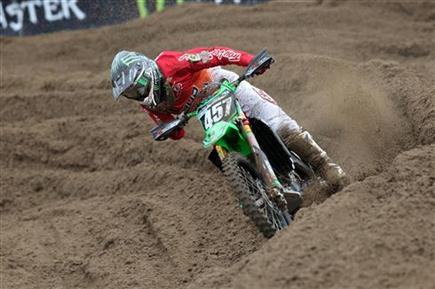 Darian Sanayei fourth in Belgium EMX250