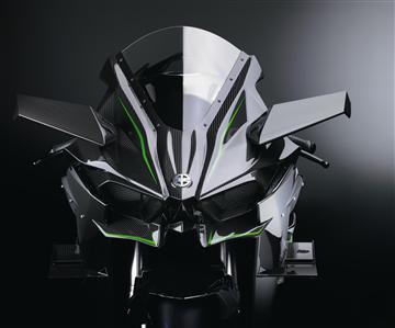 Présentation européenne de la Kawasaki H2R, Intermot 2014.