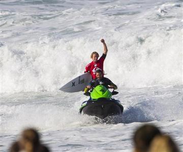 Kawasaki surfe sur Hossegor
