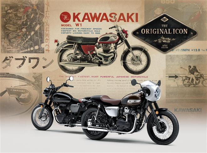 New 2019 Kawasaki W800 Street and W800 CAFE unveiled for first time in Europe at 2018 Motorcycle Live