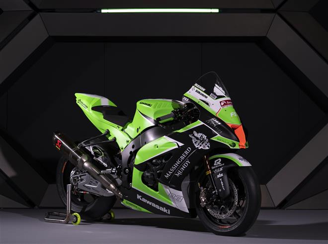 New 2020 Massingberd-Mundy Kawasaki livery unveiled at the MCN London Motorcycle Show