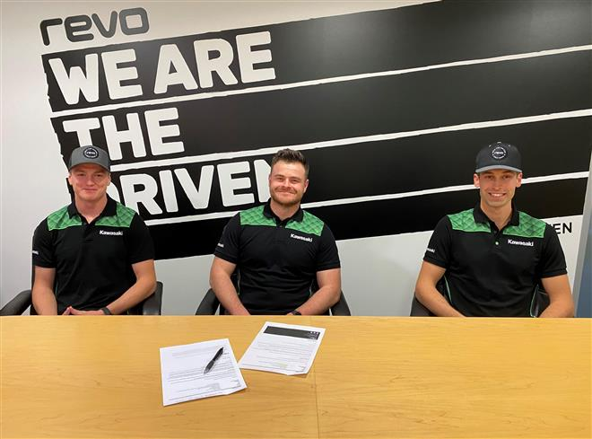 Dylan Walsh and James Dunn to form REVO Seven Kawasaki
