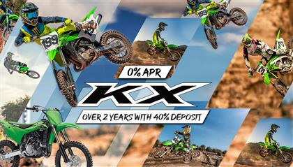 KX RANGE AVAILABLE ON 0% APR OVER 2 YEARS