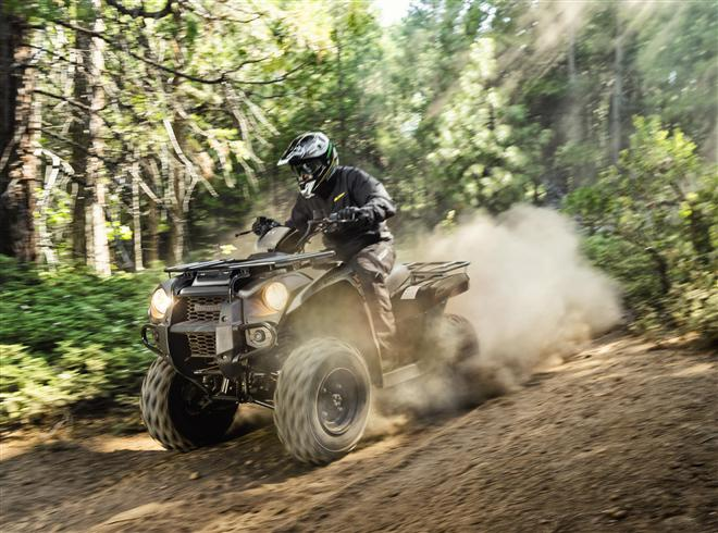New graphic look for 2018 Kawasaki Brute Force ATVs