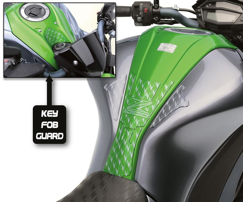 Gr/ün Fooqs Tankpad und Cappad f/ür Kawasaki Z 1000 Z1000