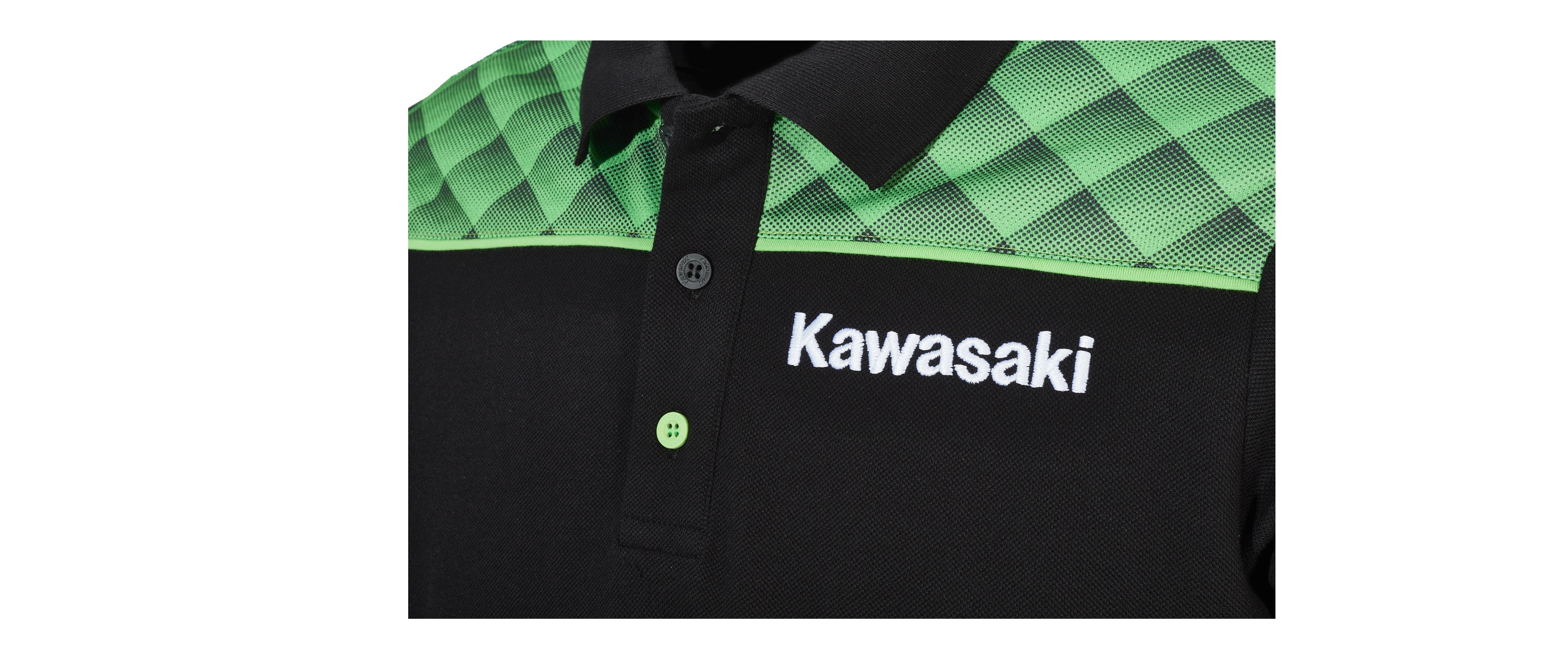 Genuine Kawasaki Sports Polo Shirt New M//L//XL//2XL//3XL 139SPM026