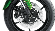 Triple Petal Disc Brakes with Latest-spec ABS