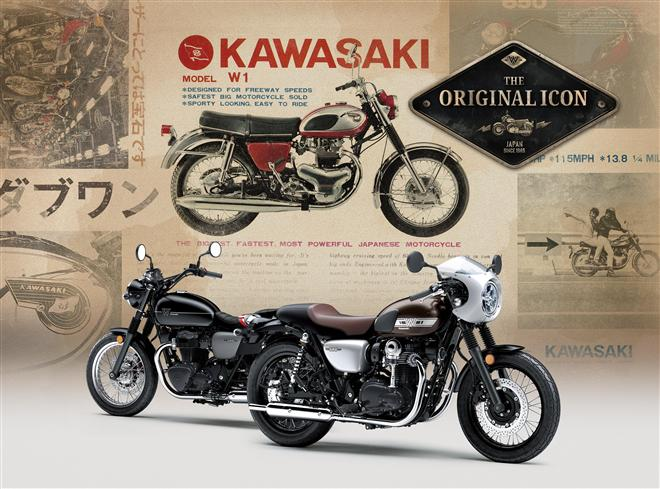 Further details of new 2019 Kawasaki W800 models released