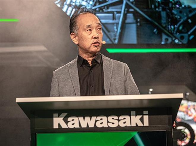 Yuji Horiuchi delivers Kawasaki keynote EICMA speech
