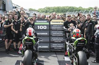 Historic 100 WorldSBK Race Wins For Kawasaki