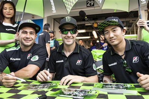 Team Green Kawasaki trio work for Suzuka 8Hr win