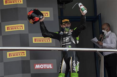 Podium For Kawasaki In Spain