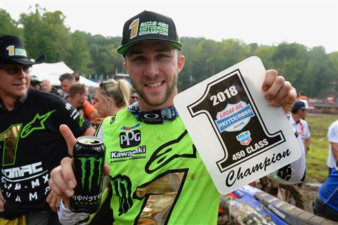 Tomac Secures Consecutive 450MX Championships